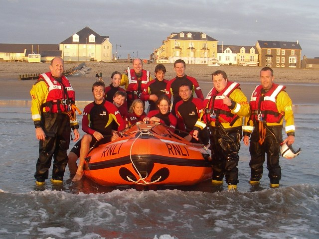 RNLI lifeboat crew and lifeguards